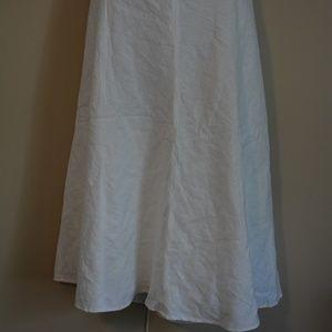 Dresses & Skirts - White linen circle skirt